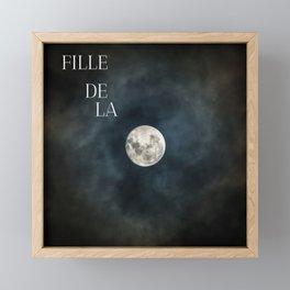 Daughter of the moon Framed Mini Art Print