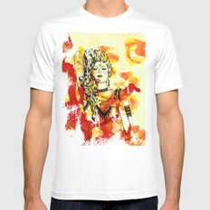 Tribal Beauty 2 White Mens Fitted Tee MEDIUM