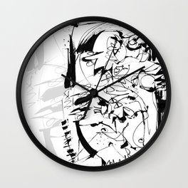 Ups and Downs - b&w Wall Clock