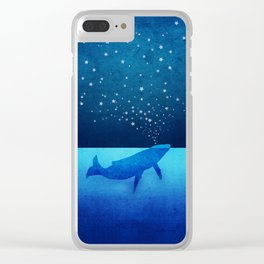 Whale Spouting Stars - Magical & Surreal Clear iPhone Case