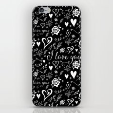 Black love iPhone & iPod Skin
