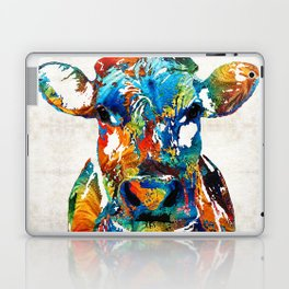 Colorful Cow Art - Mootown - By Sharon Cummings Laptop & iPad Skin