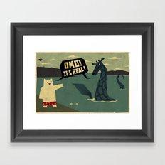 Yeti meets Nessie Framed Art Print