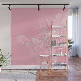 Millennial Pink illumination of Heart White Tropical Palm Hawaii Wall Mural
