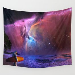 Space Surfer Wall Tapestry