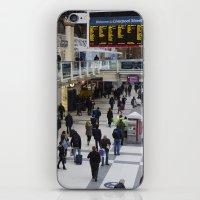 liverpool iPhone & iPod Skins featuring Liverpool Street Station London by David Pyatt