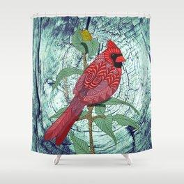 Virginia Cardinal Shower Curtain