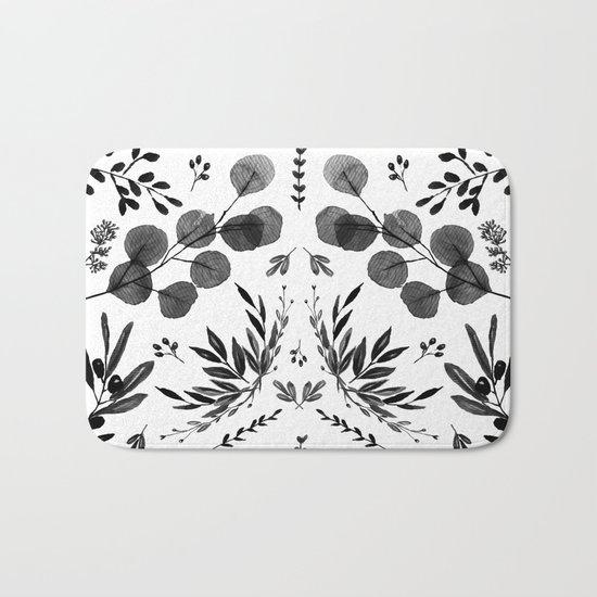 Black and white scence Bath Mat