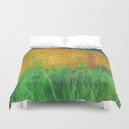 Barbed Wire Poppies Duvet Cover