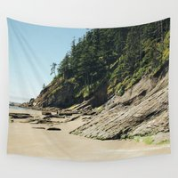 oregon Wall Tapestries featuring OREGON COAST by Outdoor Bro