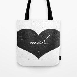 Black Heart Meh. Tote Bag