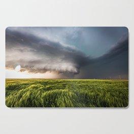 Leoti's Masterpiece - Incredible Storm in Western Kansas Cutting Board