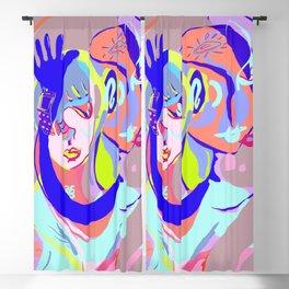 pink + blue Blackout Curtain