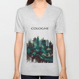 Cologne Skyline Unisex V-Neck