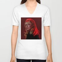laura palmer V-neck T-shirts featuring Laura Palmer from Twin Peaks by Annike