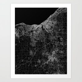 Cleveland map Ohio Art Print