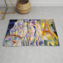 """Robert Delaunay """"La Ville de Paris"""" Rug"""