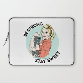 Pitbull Strong Pin Up Laptop Sleeve
