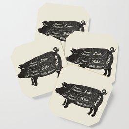 PORK BUTCHER DIAGRAM (pig) Coaster