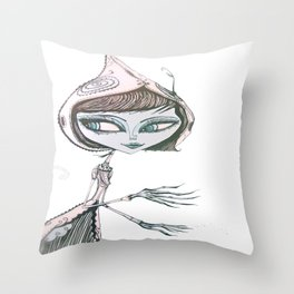 mrs wolf Throw Pillow