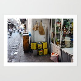 Streets of Damascus Art Print