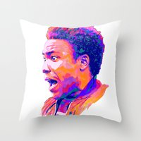 childish gambino Throw Pillows featuring CHILDISH GAMBINO // NEXTGEN RAPPERS by mergedvisible
