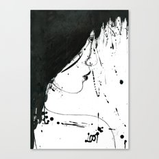 Inked Girl Canvas Print