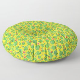 Cactus Me Outside (Yellow) Floor Pillow