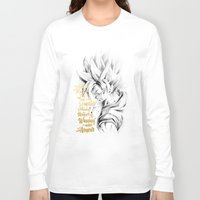 dragonball z Long Sleeve T-shirts featuring Dragonball Z - Honor by Straife01