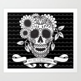Skull with a pitch of sugar Art Print