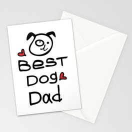 Best dog dad Stationery Cards