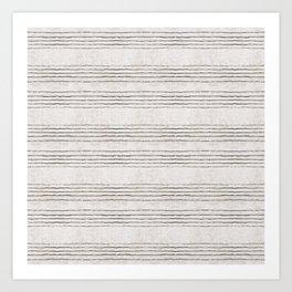 LINEN STRIPE RUSTIC Art Print