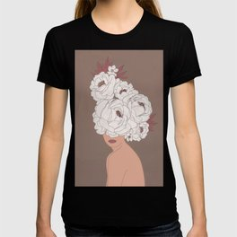 Woman with Peonies T-shirt