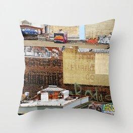 San Francisco behind the scene Throw Pillow