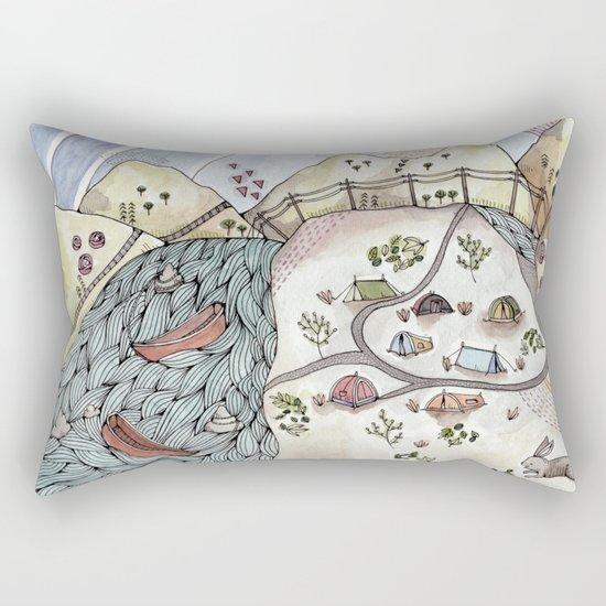 Desert Camp Rectangular Pillow