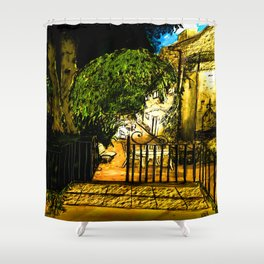 Provence by night Shower Curtain