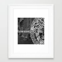 versace Framed Art Prints featuring versace 3 by Beauti Asylum