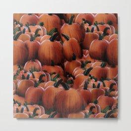 Pumpkins Pattern Metal Print