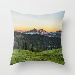 Looking Towards Tatoosh Range Throw Pillow
