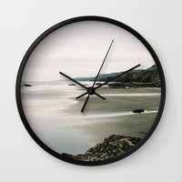 west coast Wall Clocks featuring West Coast by Arielle Walker