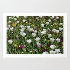 Blumen Beet  Art Print