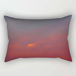 Red cloud shining at sunset Rectangular Pillow