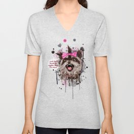 Rose The Raccoon Unisex V-Neck