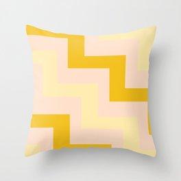 Chevron diagonal 90s Throw Pillow