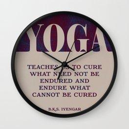 Yoga Teaches Us Wall Clock