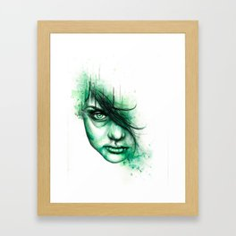Not Listening Framed Art Print
