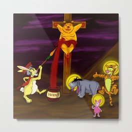 Eeyore 3:16 Metal Print