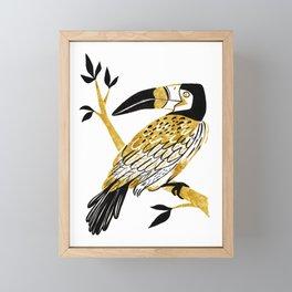 Golden Toucan Framed Mini Art Print