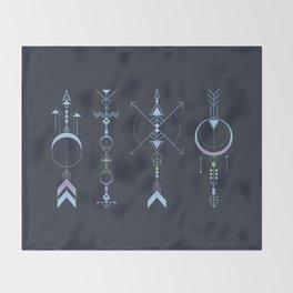 Geometric Arrows - Native American Sioux Throw Blanket