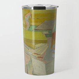 Piles of French novels by Vincent Van Gogh Travel Mug